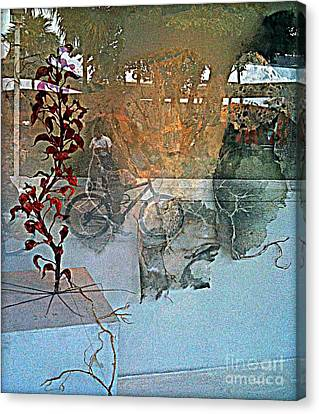 Faniart Canvas Print - View From The Window by Fania Simon