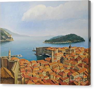 View From Top Of The World Canvas Print by Kiril Stanchev
