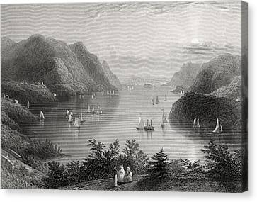 View From West Point Hudson River Usa Canvas Print by Vintage Design Pics