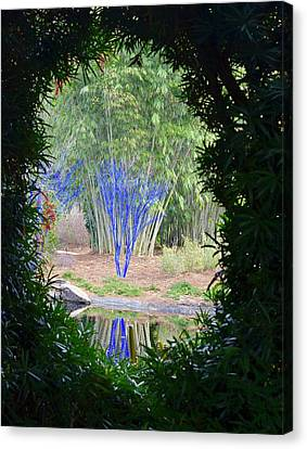 View Into An Enchanted Garden Canvas Print by Richard Bryce and Family