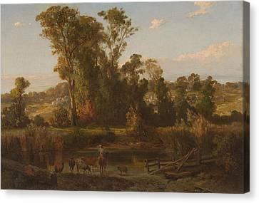 View Near Heidelberg Canvas Print by Louis Buvelot
