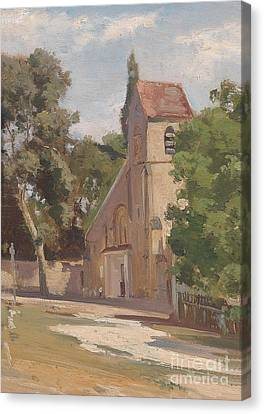 View Of A Church Portal Canvas Print by MotionAge Designs