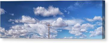 View Of A Phone Pole Canvas Print by Gary Warnimont
