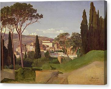 View Of A Villa Canvas Print