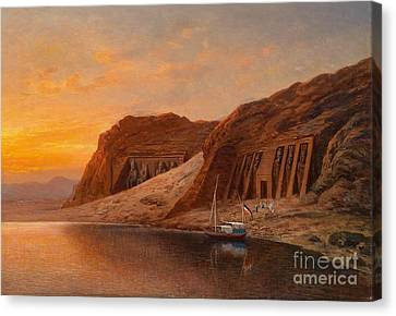 View Of Abu Simbel Canvas Print by Celestial Images