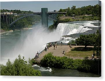 Canvas Print featuring the photograph View Of American Niagara Falls by Jeff Folger