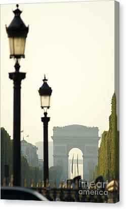 View Of Arc De Triomphe Canvas Print