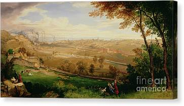 View Of Bradford Canvas Print by William Cowen