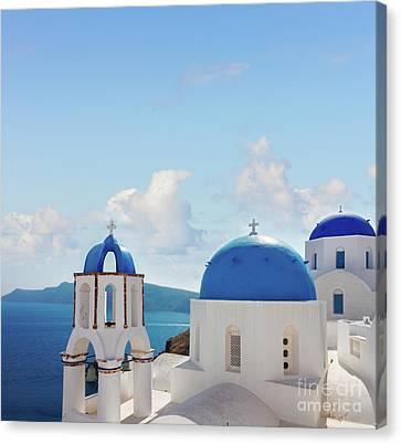 Caldera  Of Santorini Canvas Print
