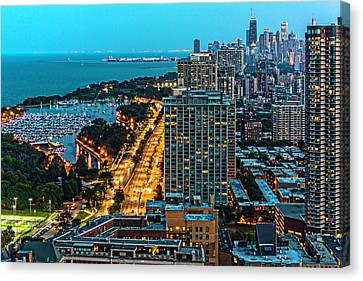 View. Chicago Canvas Print - View Of Chicago From Park Place Towers Dsc4666 by Raymond Kunst