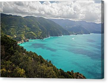 Vernazza Canvas Print - View Of Cinque Terre From Path Number 1 by Joan Carroll
