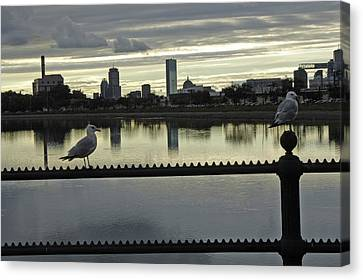 View Of City Of Boston From Castle Island Canvas Print
