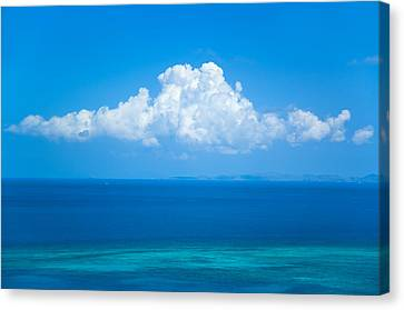 View Of Clouds Over Ocean Canvas Print