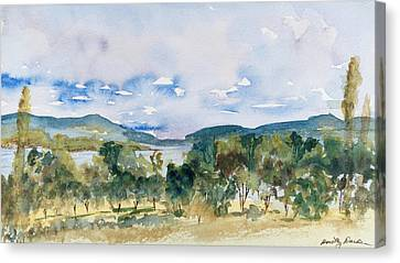 View Of D'entrecasteaux Channel From Birchs Bay, Tasmania Canvas Print
