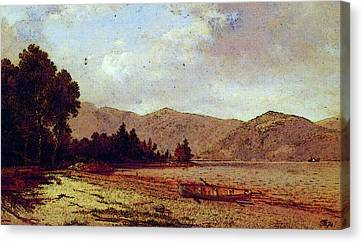 View Of Dresden Lake George Canvas Print by David Johnson