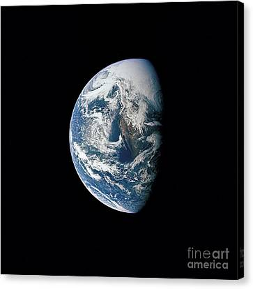 View Of Earth Taken From The Apollo 13 Canvas Print by Stocktrek Images