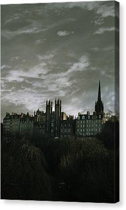 view of Edinburgh Canvas Print by Cambion Art