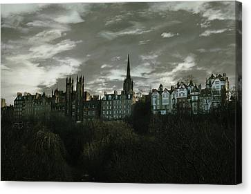 view of Edinburgh II Canvas Print by Cambion Art