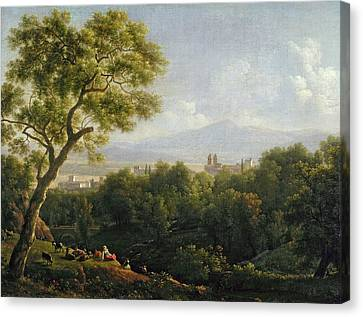 View Of Frascati Canvas Print by Jean Bidauld