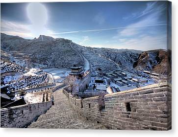 View Of Great Wall Canvas Print