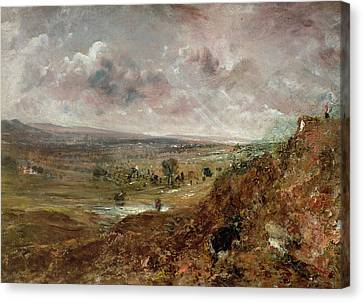 View Of Hampstead Heath Canvas Print by John Constable