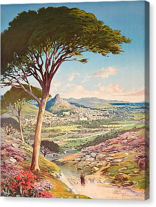 View Of Hyeres, France, 1900 Canvas Print by Hugo dAlesi