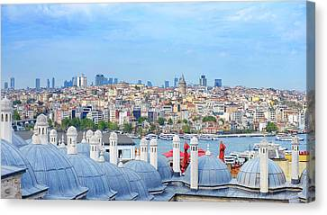 Canvas Print featuring the photograph View Of Istanbul by Fabrizio Troiani
