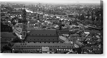 View Of Jesuitenkirche B W Canvas Print by Teresa Mucha