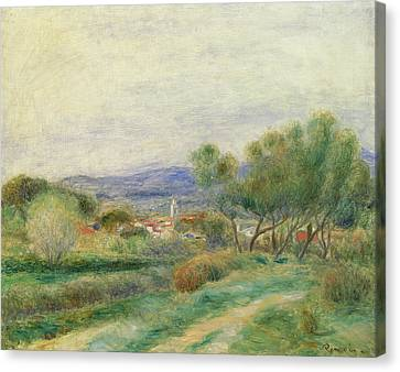 View Of La Seyne Canvas Print by Pierre Auguste Renoir