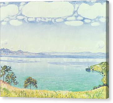 View Of Lake Leman From Chexbres Canvas Print by Ferdinand Hodler