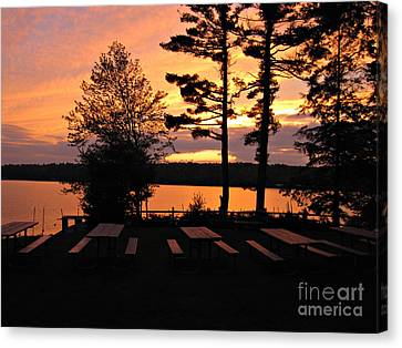 View Of Lake Naomi Canvas Print by Addie Hocynec