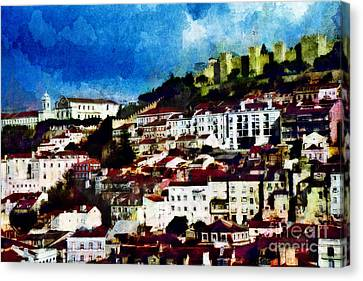 View Of Lisbon Canvas Print
