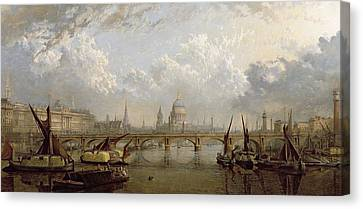 View Of London  Canvas Print by John MacVicar Anderson