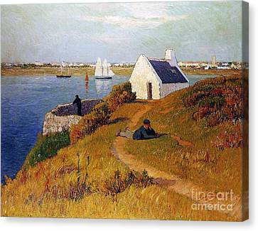 View Of Lorient In Brittany Canvas Print by Henry Moret
