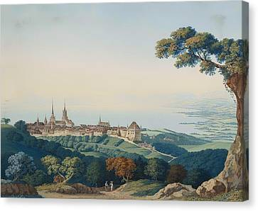 View Of Lucerne Canvas Print by Mountain Dreams