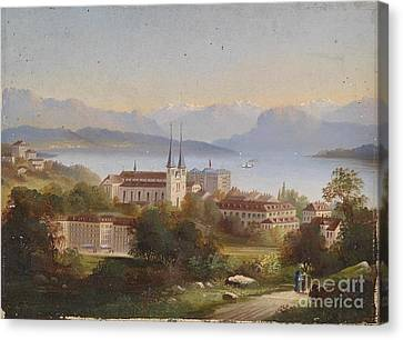 View Of Lucerne Canvas Print