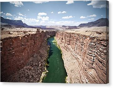 View Of Marble Canyon From The Navajo Bridge Canvas Print by Ryan Kelly