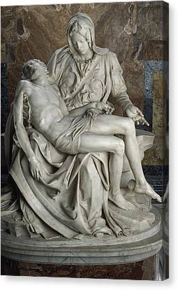 View Of Michelangelos Famous Sculpture Canvas Print
