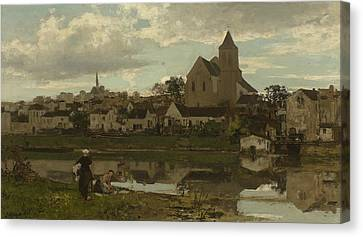 View Of Montigny-sur-loing Canvas Print by Jacob Maris