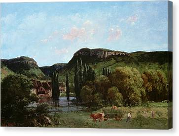 View Of Ornans, 1864 Canvas Print