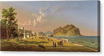 Italian Landscape Canvas Print - View Of Palermo by Robert Salmon