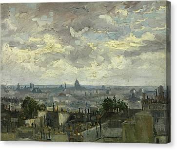 View Of Paris Canvas Print by Vincent van Gogh