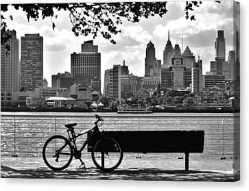 Philadelphia Canvas Print - View Of Philadelphia  by Andrew Dinh