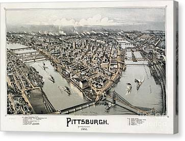 View Of Pittsburgh, 1902 Canvas Print by Granger