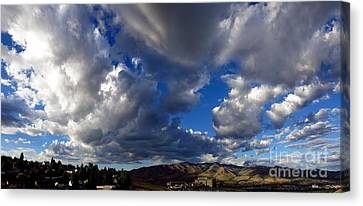View Of Pocatello With Portneuf Medical Center Canvas Print