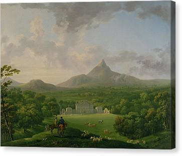 View Of Powerscourt - County Wicklow Canvas Print by George the Elder Barret