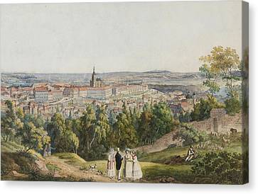 View Of Prague Castle From  Hill Canvas Print by Richter