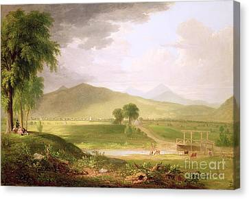 View Of Rutland - Vermont Canvas Print by Asher Brown Durand