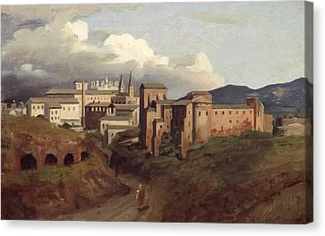 View Of Saint John Lateran Rome Canvas Print by Joseph Desire Court
