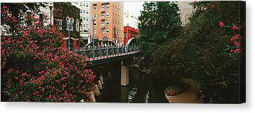 View Of San Antonio River Walk, San Antonio, Texas, Usa Canvas Print